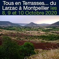 Tous en Terrasses... du Larzac à Montpellier en octobre 2020