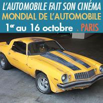 Paris 75015<br>Mondial de l'Automobile<br>exposition inédite<br>L'automobile fait son cinéma<br>