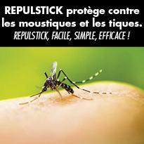 REPULSTICK® protège contre les moustiques et les tiques