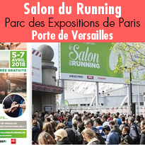 Salon du Running<br>du 5 au 7 avril<br>Paris