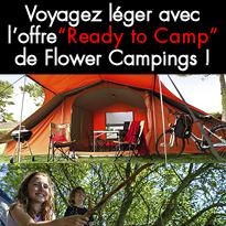 """Nouveau """"Ready to Camp"""" de Flower Campings !"""