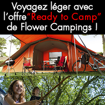 "Nouveau<br>""Ready to Camp""<br>de Flower Campings !"