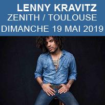 LENNY<br>KRAVITZ<br>AU ZENITH<br>TOULOUSE<br>19 MAI 2019
