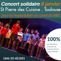 Le 8 janvier<br>concert<br>solidaire<br>à Toulouse