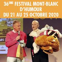 FESTIVAL MONT BLANC D'HUMOUR DU 21 AU 25 OCTOBRE 2020