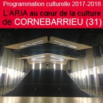 Programmation culturelle<br>2017-2018<br>l'ARIA<br>à Cornebarrieu