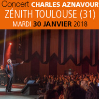 Charles Aznavour<br>Zenith<br>Toulouse<br>30 janvier 2018<br>20H