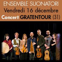Concert<br>de l'Ensemble SUONATORI<br>le 16 décembre 2016<br>à Gratentour (31)