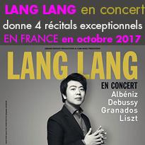 4 récitals exceptionnels<br>de Lang Lang<br>en France<br>en octobre 2017