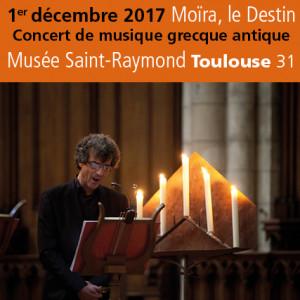 Musée St-Raymond<br>Concert de musique<br>grecque antique