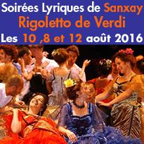 Les Soirées Lyriques<br>de Sanxay (86)<br>Les 8, 10 et 12 août