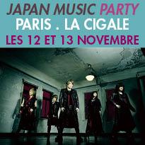 Les 12 et 13 novembre<br>JAPAN MUSIC PARTY<br>la Cigale<br>Paris 75018