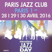 Journée Internationale<br>du Jazz<br>à Paris 1er