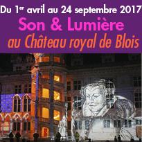 Expérience unique<br>Son & Lumière<br>au Château de Blois (41)