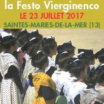 23 juillet<br>Saintes-Maries<br>de-la-Mer<br>113e édition<br>de la Festo Vierginenco