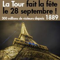 Paris<br>La Tour<br>fait la fête<br>le 28 septembre !