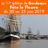 Du 20 au 23 juin<br>Bordeaux<br>Fête<br>le Fleuve