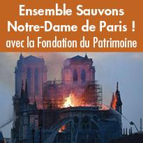 Sauvons Notre-Dame<br>de Paris !