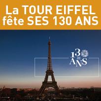 En 2019<br>La tour Eiffel<br>fête<br>ses 130 ans