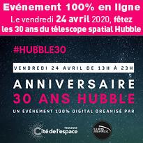 la Cité de l'espace invite les internautes à fêter les 30 ans du télescope spatial Hubble