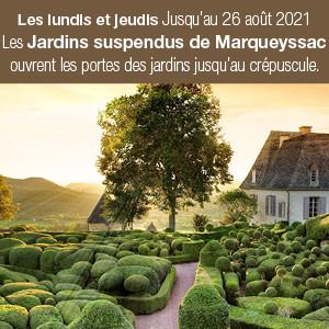 Les couchers de soleil de Marqueyssac en Dordogne