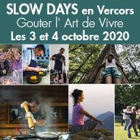 3ème édition des SLOW DAYS en Vercors les 3 et 4 octobre 2020