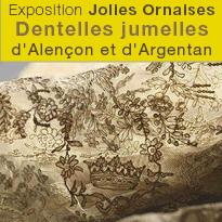 Exposition<br>Dentelles<br>d'Alençon<br>et d'Argentan