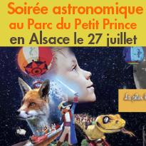 Soirée astronomique<br>Parc du Petit Prince<br>27 juillet 2018