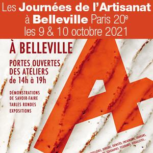 Les Journées de l'Artisanat à Belleville les 9 et 10 octobre 2021