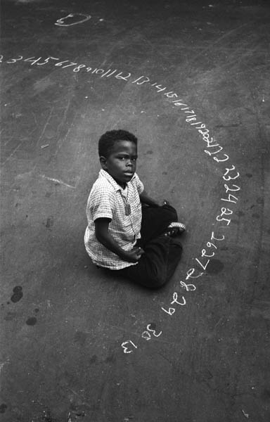 CL-007 Boy With Chalk Numbers, 1955