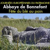 Journée<br>du patrimoine<br>à l'Abbaye<br>de Bonnefont
