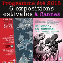 A Cannes<br>un musée éphémère<br>et 6 expositions temporaires