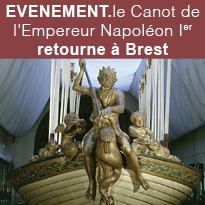 le Canot<br>de l'Empereur<br>Napoléon Ier<br>retourne<br>à Brest