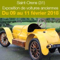 Du 9 au 11 février 2018<br>Exposition de voitures<br>anciennes<br>à St-Orens