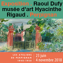 Exposition<br>Raoul Dufy<br>musée Rigaud<br>Perpignan