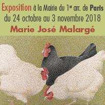 Exposition<br> «&nbsp;Peintures à la plume&nbsp;» <br>Marie José<br>Malargé