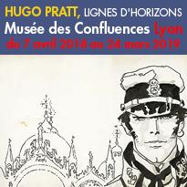 Exposition<br>Hugo Pratt<br>musée des Confluences<br>Lyon
