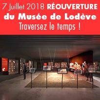 Le 7 Juillet 2018<br>Réouverture<br>du Musée<br>de Lodève