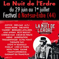 Du 29 juin au 1er juillet<br>20e édition<br>du festival<br>La Nuit de l'Erdre
