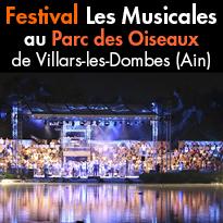 9e édition<br>des Musicales<br>du Parc des Oiseaux