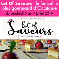 Cahors<br>Lot of Saveurs<br>du 5 au 7 juillet 2019
