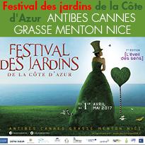 Côte d'Azur<br>Festival des Jardins<br>1er Festival<br>des Jardins