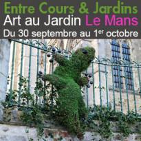 Entre Cours & Jardins<br>Du 30septembre au 1er octobre 2017<br>Le Mans (72)