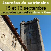 Journées<br>du patrimoine<br>dans le Gers