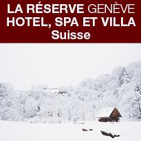 LA RESERVE<br>GENEVE<br>NOUVEAU<br>LODGE D'HIVER