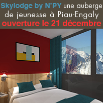 OUVERTURE<br>DU 1er SKYLODGE<br>BY N'PY<br>A PIAU-ENGALY