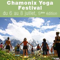Chamonix<br>Yoga<br>Festival<br>du 6 au 8 juillet