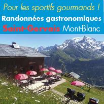 Randonnées<br>gourmandes<br>à Saint-Gervais<br>Mont-Blanc