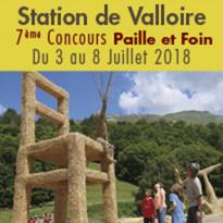 Sculptures<br>sur Paille et Foin<br>Du 3 au 8 juillet 2018<br>à Valloire