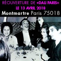 Réouverture<br>de Dali Paris<br>le 13 avril 2018